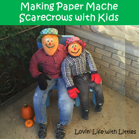 Thrill Kids with These DIY Paper Mache Scarecrows and Woven Hats